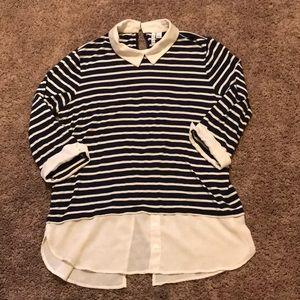 Elle striped blouse size L